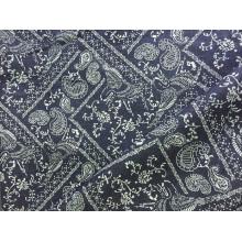 100% algodão Indigo Print Denim