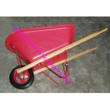 carrinho de mão do garoto do punho de madeira 20L bandeja plástica
