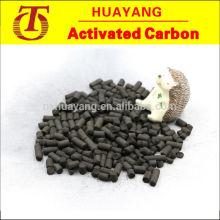 Pellet de carbón activado para la adsorción de escape de plantas de aguas residuales