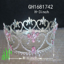New designs rhinestone royal accessories rhinestone tall pageant crown tiara