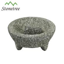 Gros pierre Molcajete Et Tejolete Mortier Et Pilon Herbe Broyeur Granit Molcajete