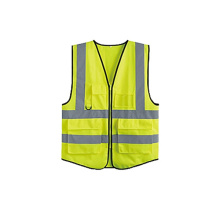 warning safety vest with reflective tape