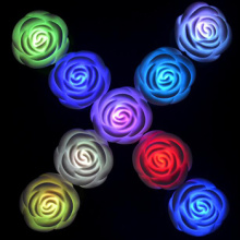 Color changing Flameless rose LED candle light
