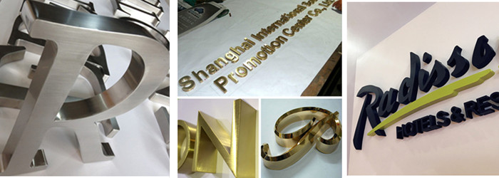 painted metal letters