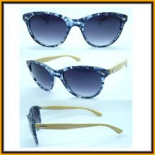 F15288 Trendige Cat3 Bambus Arm Frauen Sonnenbrillen erfüllen CE UV400