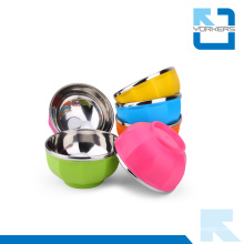 Colorful Stainless Steel and Plastic Bowls & Stainless Steel Rice Bowl for Kids