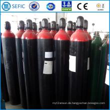 Nahtloser Stahlgaszylinder 50L mit Kappe (EN ISO9809)