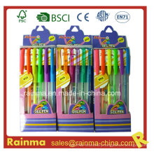 Plastic Gel Ink Pen in Paper Box Packing