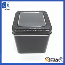 Square Customized Watch Tin Box With Window