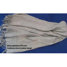 Cashemre Basket Lurex Woven Shawl