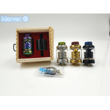 China for China Rba Atomizer Vape,Stable Wood Vape,Starter Kit Vape Supplier Colorful 510 Thread hand-polished e-cig RTA vape supply to India Factory