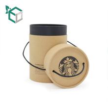 Qualitäts-Großhandelskundenspezifisches Logo-Schwarz-Tinten-Kraftpapier-Glaskaffeetasse, die Rohr-Kästen verpackt