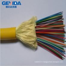 Câble fibre optique de distribution de 48 niveaux avec Kevlar