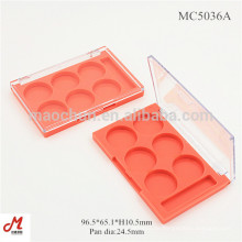 MC5036A Rechteckige 6 Brunnen Plastikaugenschattenhalter-Kastengroßverkauf