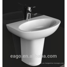 EAGO - Lavabo de cerámica con un solo pedestal BD379E