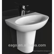EAGO single hole Ceramic basin with semi-pedestal BD379E