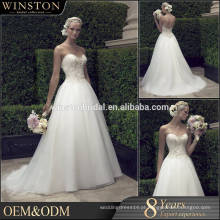 Novos padrões de vestido de casamento de sereia de design especial de moda