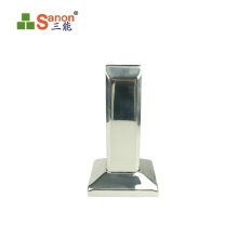 Glass Fence Fittings Polished Handrail U Shaped Stainless Steel Pipe Holder