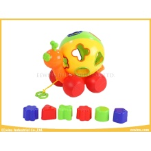 Plastic Toys Snail with Rolling Ball and Blocks Toys