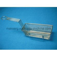 Steel 201 304 Deep Fry Basket 11′′ Mesh Basket Rectangle