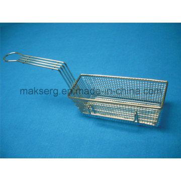 Cesta de acero para freír Rectángulo de cesta de malla de 11 ′ ′