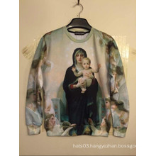 Virgin Mary Printed Shirt Pullover Hip Hop Street