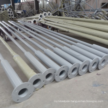 hot sale customized 6 meters street galvanized lighting pole with factory price
