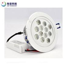 15X1w 2300k 110-220V quente lâmpada de teto branco