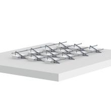 Système de montage pour toit plat solaire en aluminium ajustable de 1 mégawatt