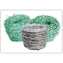 Stacheldrahtzaun (verzinkt und PVC beschichtet)