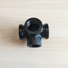 Good quality black cast iron side cross with antique style and delicate appearance