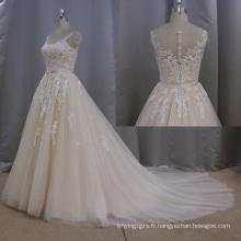 Dentelle robe de mariée une ligne robe robe de mariée 2016