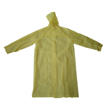 Fashion Yellow long eva RainCoat