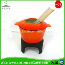 Cast iron fondue, cheese fondue set, fondue pot