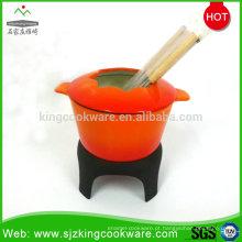 Fondue de ferro fundido, conjunto de fondue de queijo, panela de fondue