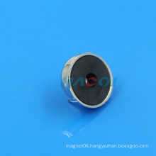 Cup Ferrite sintered ferrite magnets with hole