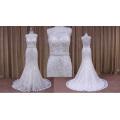 Comprimento vestidos de casamento com apliques