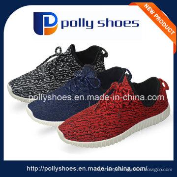 Lace-up homens na China Fábrica Sapatos de lona de desporto