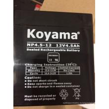 Batería de AGM de ácido de plomo de 12V 4.5ah para linternas, césped y jardín