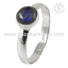Attrective Labradorite Gemstone Silver Ring atacado 925 Sterling Silver Jewelry Indian Handmade Online Silver Jewelry