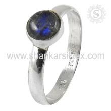 Attrective Labradorite Gemstone Silver Ring atacado 925 Sterling Silver Jewelry Indian Handmade Online Silver Jewelry