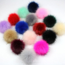 Factory price detachable Faux Raccoon Fur Pom Poms Ball for Knitting Hat