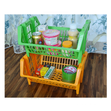 Multipurpose eco-friendly stackable plastic shelf for wholesale