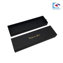luxuriöse schwarze Webart Haarverlängerung Verpackung Geschenkbox