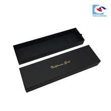 luxury black weave hair extension packaging gift box