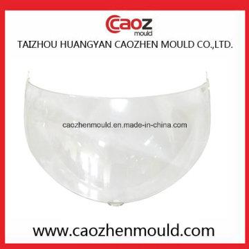 Molde de visor de plástico para uso de capacete e uso de motocicleta