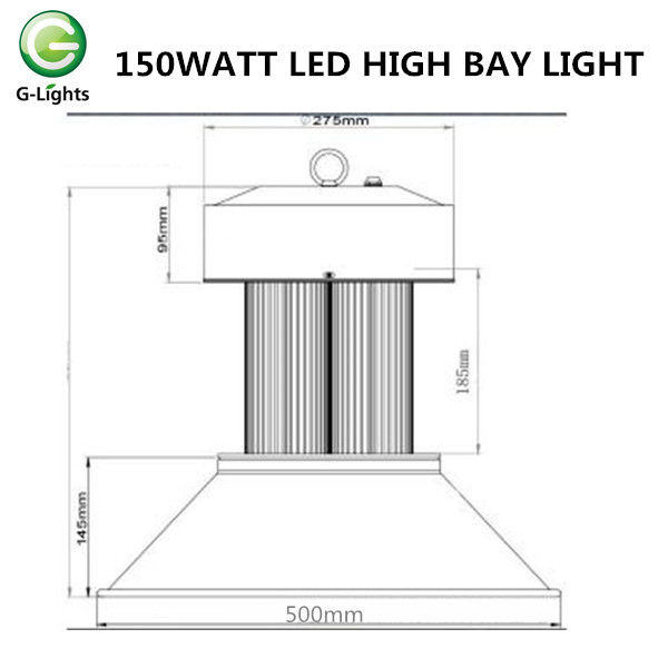 COB 150W LED Haute Lampe Bay