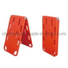High Strength Plastic Floating Waterproof X-ray Foldable Spine Board with Strap
