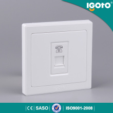 UK Type Wall Switch 4core Tel Socket