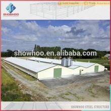 Qingdao Showhoo preço de fábrica Long anos para estrutura de aço galinheiro industrial industrial para venda